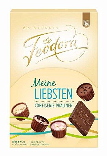 Feodora Meine Liebsten Confiserie Pralinen, 2er Pack (2 x 140 - Geschenk Gourmet Edelbitter-schokolade