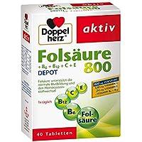 Doppelherz Folsäure 800 + B-vitamine Tabletten 40 stk preisvergleich bei billige-tabletten.eu