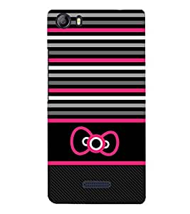 Cute Bow Art Wall 3D Hard Polycarbonate Designer Back Case Cover for Micromax Canvas 5 E481