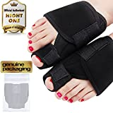 Kemei Night Bunion Splint 2 Pieces Hallux Valgus Pads Bunion Pain Treatment Big