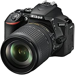 "Nikon D5600 - Cámara réflex de 24.2 MP (Pantalla táctil de 3"", Full HD) Negro - Kit con Objetivo AF-S DX 18-105 mm VR, versión Europea"
