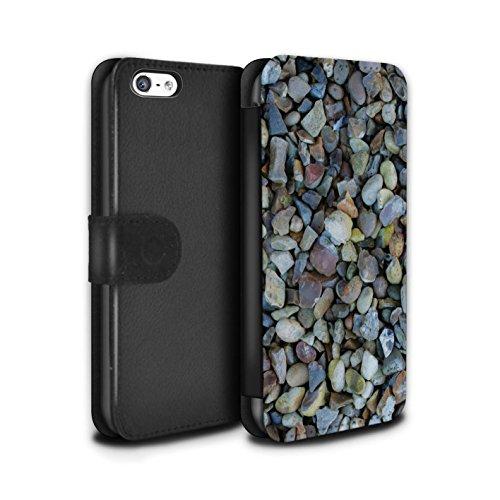 Stuff4 Coque/Etui/Housse Cuir PU Case/Cover pour Apple iPhone 5C / Petit Mur de Pierre Design / Pierre/Rock Collection Cailloux