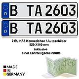 2 EU KFZ Kennzeichen / Autoschilder 520 X110 mm