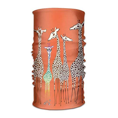 Giraffe Womens Licht (TEPEED Men&Women Giraffes Animals. Headwear Bandanas Headscarf Tube Scarf Facemask Headbands Neck Gaiter Bandana Balaclava Helmet for Outdoor Running Yoga)
