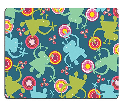 Liili mouse pad Natural rubber Mousepad Image ID: 2886446 Funny Aliens e retro Circles Vector illustrazione