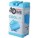 Bloques para congelador de Target Homewares® reutilizables, enfría y mantiene los alimentos frescos. Úsalos con una nevera para mayor refrigeración, 3 unidades