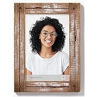 Walther Design YA030W Dupla, marco de retrato de madera en shabby chic, blanco /
