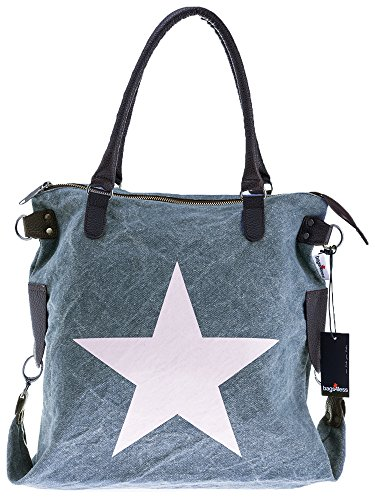 Bags4Less - F3151, Borsa a tracolla Donna Washed-Blau
