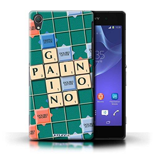 Kobalt® Imprimé Etui / Coque pour Sony Xperia Z2 / Pratique Parfaite conception / Série Mots de Scrabble Aucun Douleur Gain