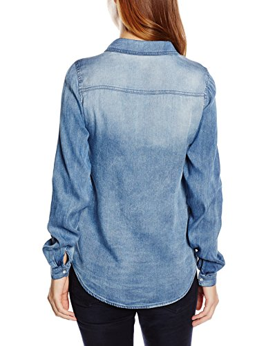 Vila Vibista Denim Shirt-noos - Chemise - Femme Bleu (Medium Blue Denim Medium Blue Denim)