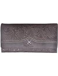 Brown Coloured Printed Genuine Leather Wallet