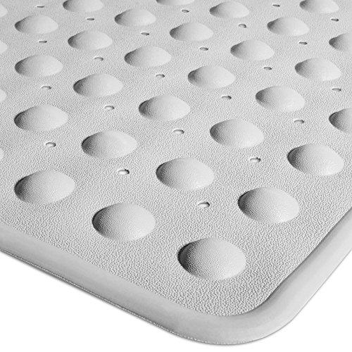casa pura® Badewannenmatte Emily | rutschfest | mit Lochung für optimalen Wasserabfluss | PVC-frei | 35 x 75 cm | drei Farben (weiß)