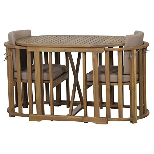 Siena Garden Balkonmöbelset Alvena, cm, Akazienholz, geölt in natur, FSC 100%, Kissenbezug aus...