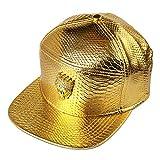 mcsays hip hop stile mitra l '80% di cotone cuoio caps baseball cap / sport - cappello (gold)