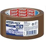 Tesa Pack - Cinta de embalaje fuerte (polipropileno acrílico silencioso, 66 m x 50 mm) color marrón, 1 unidad