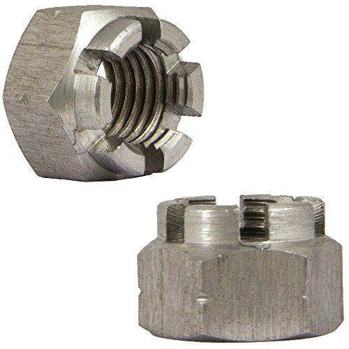 OPIOL QUALITY | Kronenmuttern M12 (SW19) DIN 935 Edelstahl A2 (20 Stück) | Sicherungsmutter | Sechskant-Muttern | rostfrei