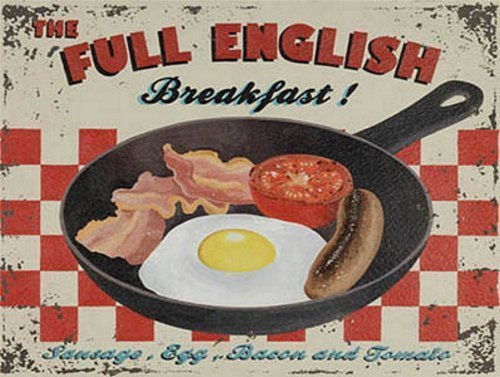 Full House Signs (Tin Sign FULL ENGLISH BREAKFAST Kitchen House Home Gift Vintage Retro Metal Sign by Star55)