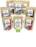 ALPENPOWER | BIO WHEY Protein Probierbox- 7 Sorten (7 x 65g) | Inkl. Bio-Kokosblütenzucker (1 x 100 g) | Ohne Zusatzstoffe | 100% natürliche Zutaten | Bio-Milch aus Bayern und Österreich