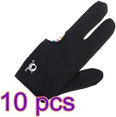 UnicocoSamt 3 Finger Handschuhe für Billard Queue Pool 10 Stück Ultra Hohe Qualität
