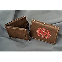 Estuche para pasaporte artesanal billetera de cuero para hombre regalo original