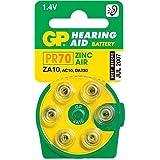 GP ZA10PR70Hearing Aid Lot de piles bouton (Boîte de 60), couleur jaune