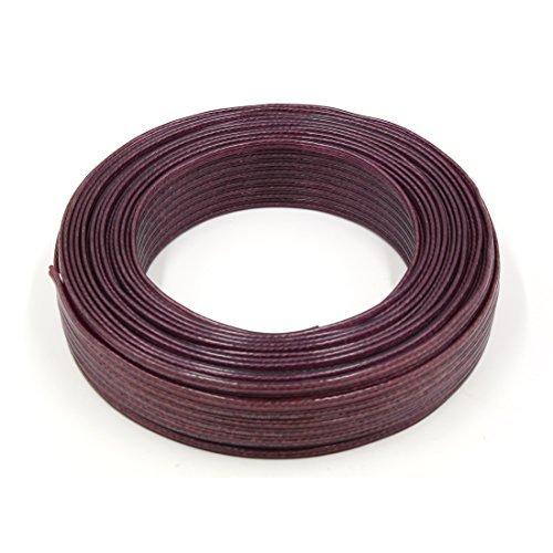 DealMux 80 m 262 ft 22 GA 100 type long Enceinte Rouge Corne de fil du cable de audio del coche