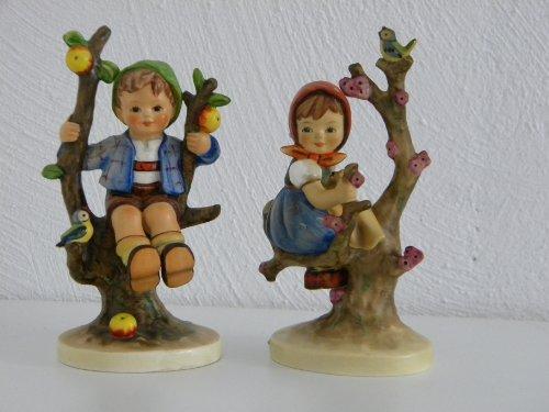 Hummel Figuren Frühling und Herbst (Porzellan Figur) seltene Sammlerstücke Hummelfigur Hummelfiguren M.I.Hummel Figur Apple Tree Boy and Girl Skulptur (Hummel-figuren Sammlerstücke)