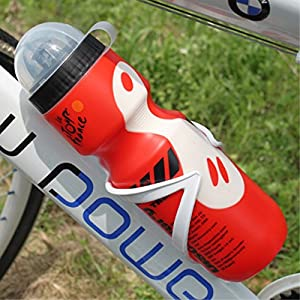 MTB Mountain Hybrid Road Bike Bicycle 650ml Water Bottle & Cage Holder Set