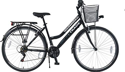 28 Zoll Damen MÄDCHEN City Trekking Fahrrad Bike Rad CITYFAHRRAD DAMENFAHRRAD CITYRAD DAMENRAD Trekkingrad Shimano 21 Gang Fantasia Schwarz Black Lady TYT19-054