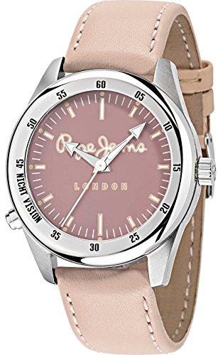 Pepe Jeans - R2351118005 - Montre Homme - Quartz - Analogique - Bracelet cuir rose