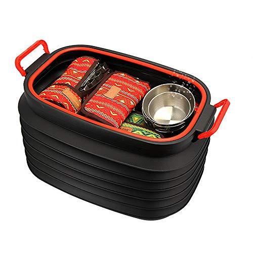 Outdoor Supplies Praktisch, multifunktional Outdoor Kunststoff Faltschüssel Eimer Für Angeln Camping Auto Waschen Kunststoff Fisch Schüssel Mopp Eimer Waschen Eimer Tragbare Falten -