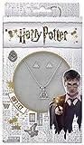 Set colgante + pendientes Deathly Hallows Harry Potter