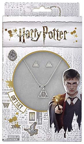 HARRY POTTER Deathly Hallows - Halskette und Ohrringe (Schmuck Harry Potter)