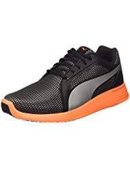 Puma St Trainer Evo Silver Sneaker, Color Negro Plateado// Shocking Orange, 7,5