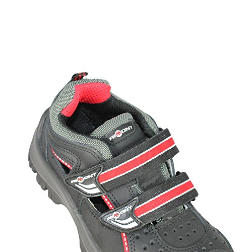 Aimont Deneb S1P SRC Sicherheitsschuhe Arbeitsschuhe Trekkingschuhe Sandale Schwarz Schwarz