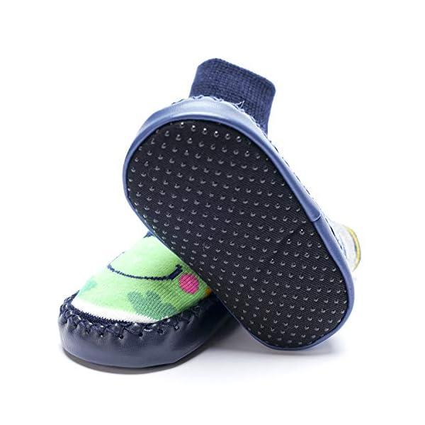 Adorel Calcetines Zapatos Antideslizantes para Bebé 3 Pares 2