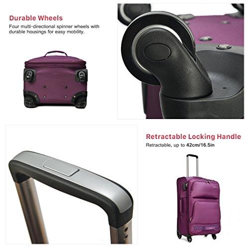 WindTook Handgepäck Trolley Koffer Reisekoffer in 20/24/28 Set Zoll 3 Farben Schwarz-01