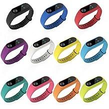 Pinhen MI BAND 2 Banda de Silicona Metal Mesh Repuesto Correa de Recambio Brazalete Extensibles Surtido de Colores para Xiaomi Mi Band 2 Wireless Pulsera (Silicona 11pcs Set)