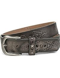 styleBREAKER ceinture brodée avec rivets, étoiles et strass, ceinture  vintage, raccourcissable, unisexe bd07c23c795