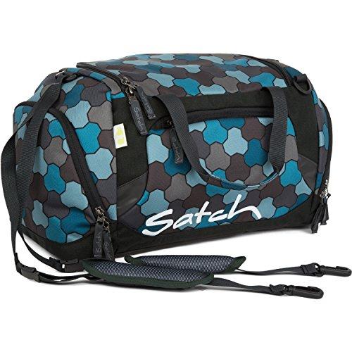 Satch Grinder borsa sportiva SAT DUF-001-216, 50 cm, 25 L, Verde Ocean Flow (Blue / Nero)