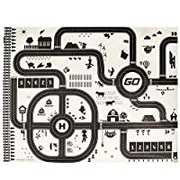 BZLine Modern Style Kids Play Mat City Road Buildings Parking Map Game Scene Map Educational Toys Games Road Carpet