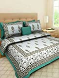 Bless International Pure Cotton Wrinkle/Fade And Stain Resistant With Hypoallergenic Luxury Mandala Bed Sheet Set with 2 Pillow Cases, (King, Colorful Diamond Shapes & Elephant)