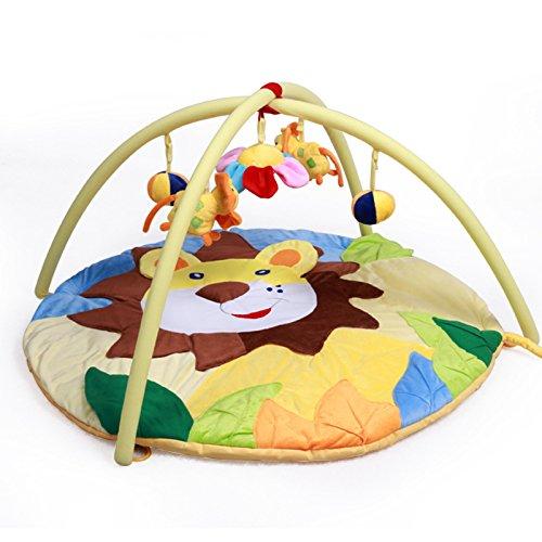 JYSPORT Baby Spieldecke Spielbögen Activity Gym Krabbeldecke Plush Toy Rainforest Spielzeuge Matte (Jungle lion) - Rainforest Activity