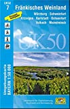 UK50-7 Fränkisches Weinland: Würzburg, Schweinfurt, Kitzingen, Karlstadt, Ochsenfurt, Volkach, Maindreieck, Arnstein, Gemünden a.Main, Dettelbach, ... Karte Freizeitkarte Wanderkarte) -