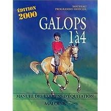 GALOPS 1 A 4. Programme officiel, Edition 2000