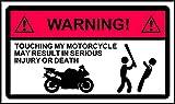 Nicht Touch Motorrad Warnung Aufkleber Aufkleber Graphic Vinyl Label 150mm x 87mm