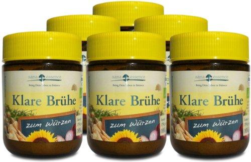 Bio Klare Brühe als 6er-Paket (ohne Stärke, ohne Hefeextrakt)