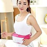 FBAM Elektrischer Gürtel Vibration Schlankheitsgürtel Multifunktional Verstellbar Taillen-Massage,Pink