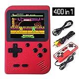BUDDYGO Handheld Spielkonsole, 400 Klassische Spielen 2.8-Zoll-LCD-Bildschirm tragbare Retro-Videospielkonsole TV-Spielekonsolen Zwei Spieler für Kinder und Erwachsene (Rot)