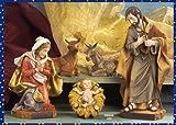 Natale Presepe natività composto da 5 statue in resina decorata alte fino a 30 cm